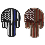 The Punisher Embroidered Patch Skull Shape - 2 Colors