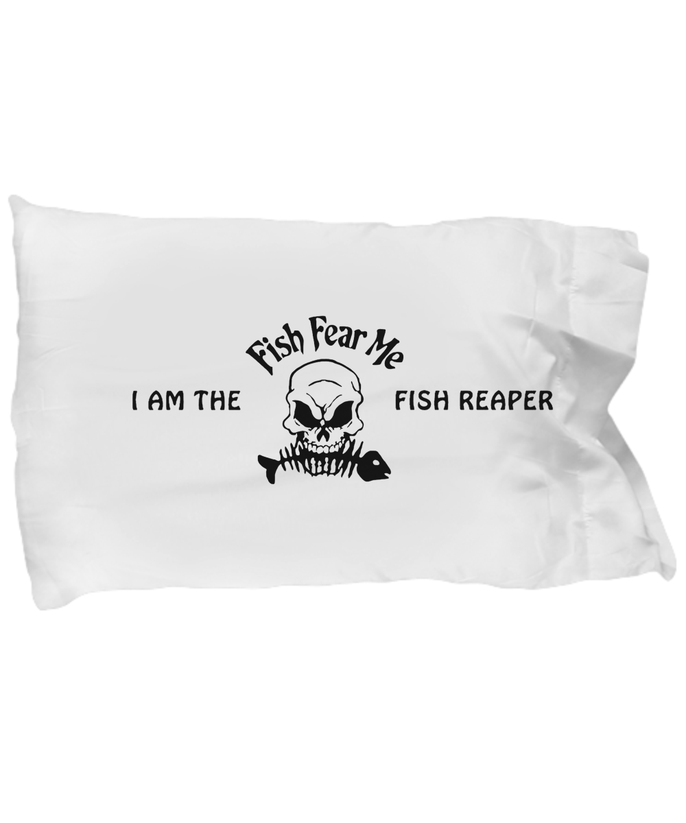 """Fish Fear Me"" Pillowcase"