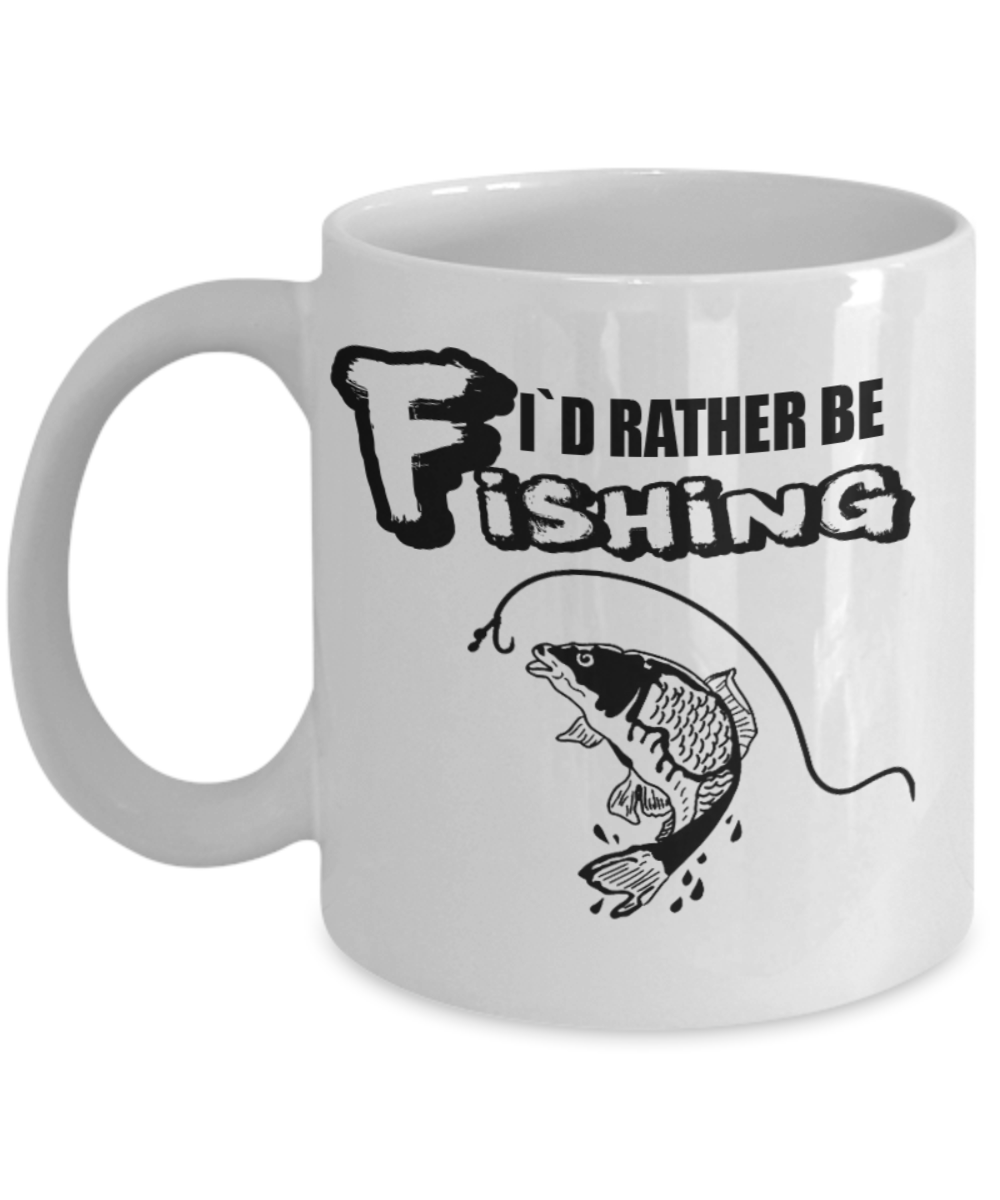 I`d Rather Be Fishing - Novelty Gift For A Fisherman - Coffee Mug 11oz