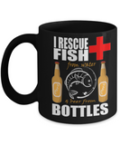 I Rescue Fish & Beer - Fishing Dad Gift - Best Father's Day Present - Coffee Mug That's Funny