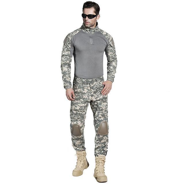 Full Military Uniform With Knee and Elbow Pads