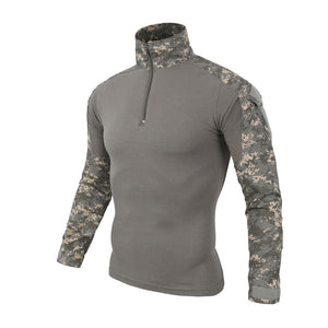 Camouflage US Military Combat Shirt With Elbow Pads