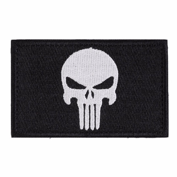 The Punisher Embroidery Square Patch - 3 Colors