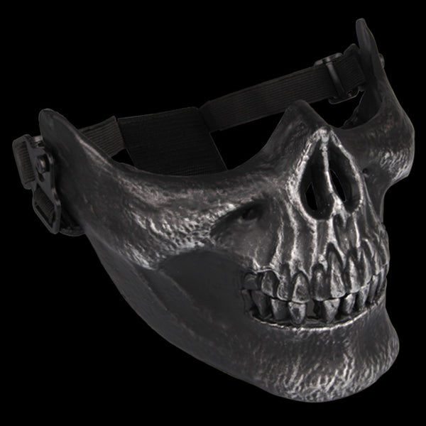 Skull Skeleton Airsoft Paintball Half Face Protect Mask.