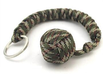 """The Monkey Fist"" Paracord Ball Bearing Key Chain."