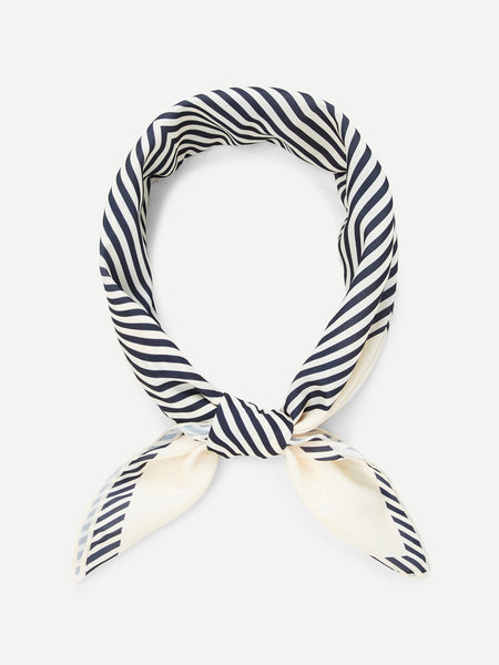 Striped Silk Bandana
