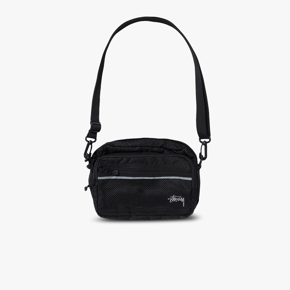 Stüssy Diamond Ripstop Nylon Shoulder Bag (schwarz)