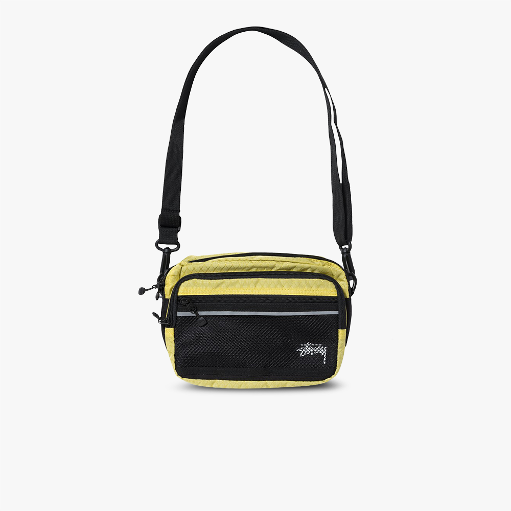 Stüssy Diamond Ripstop Nylon Shoulder Bag (gelb)