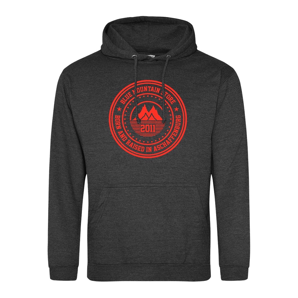 "BMS ""BAR"" Hoodie (charcoal/red)"