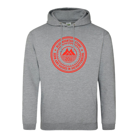 "BMS ""BAR"" Hoodie (grey/red)"