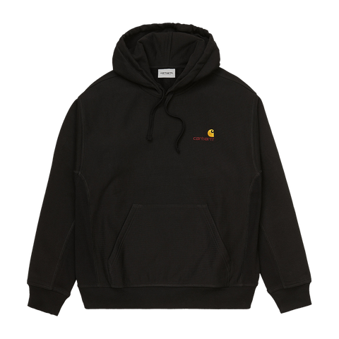 Carhartt WIP Hooded American Script Sweat (black)