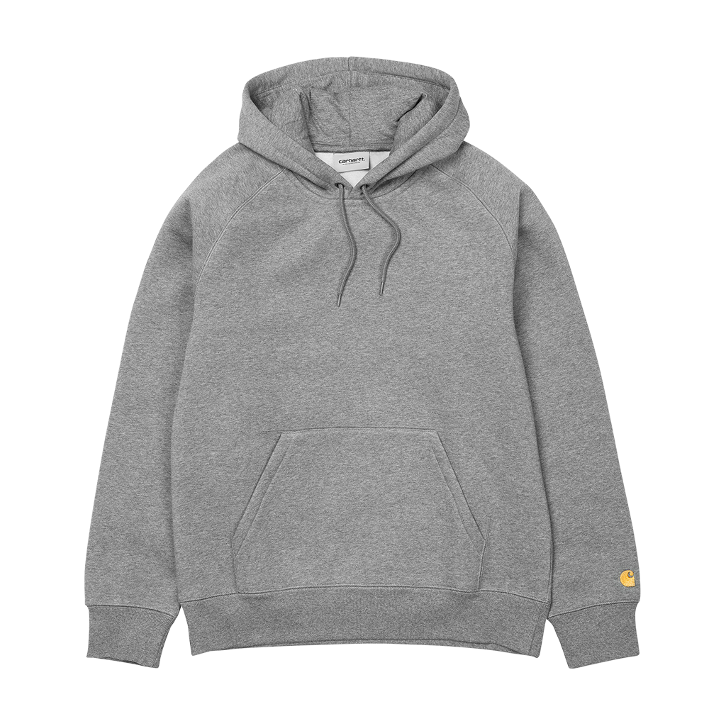 Carhartt Hooded Chase Sweat (grey heather/gold)