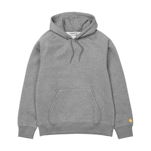 Carhartt WIP Hooded Chase Sweat (grey heather/gold)