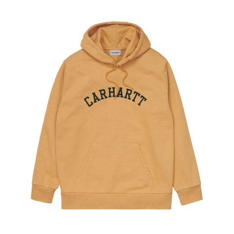 Carhartt WIP Hooded University Patch Sweatshirt (winter sun/bottle green)