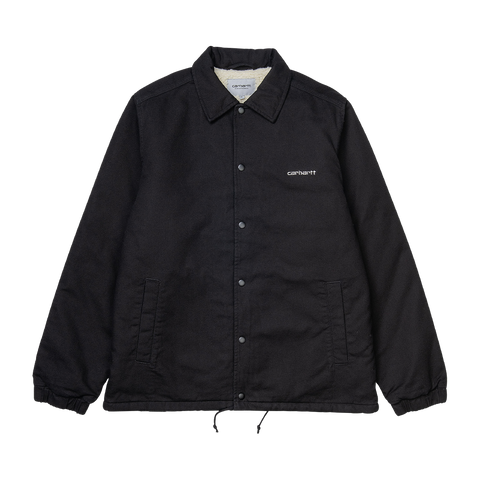 Carhartt Canvas Coach Jacket (black/white)