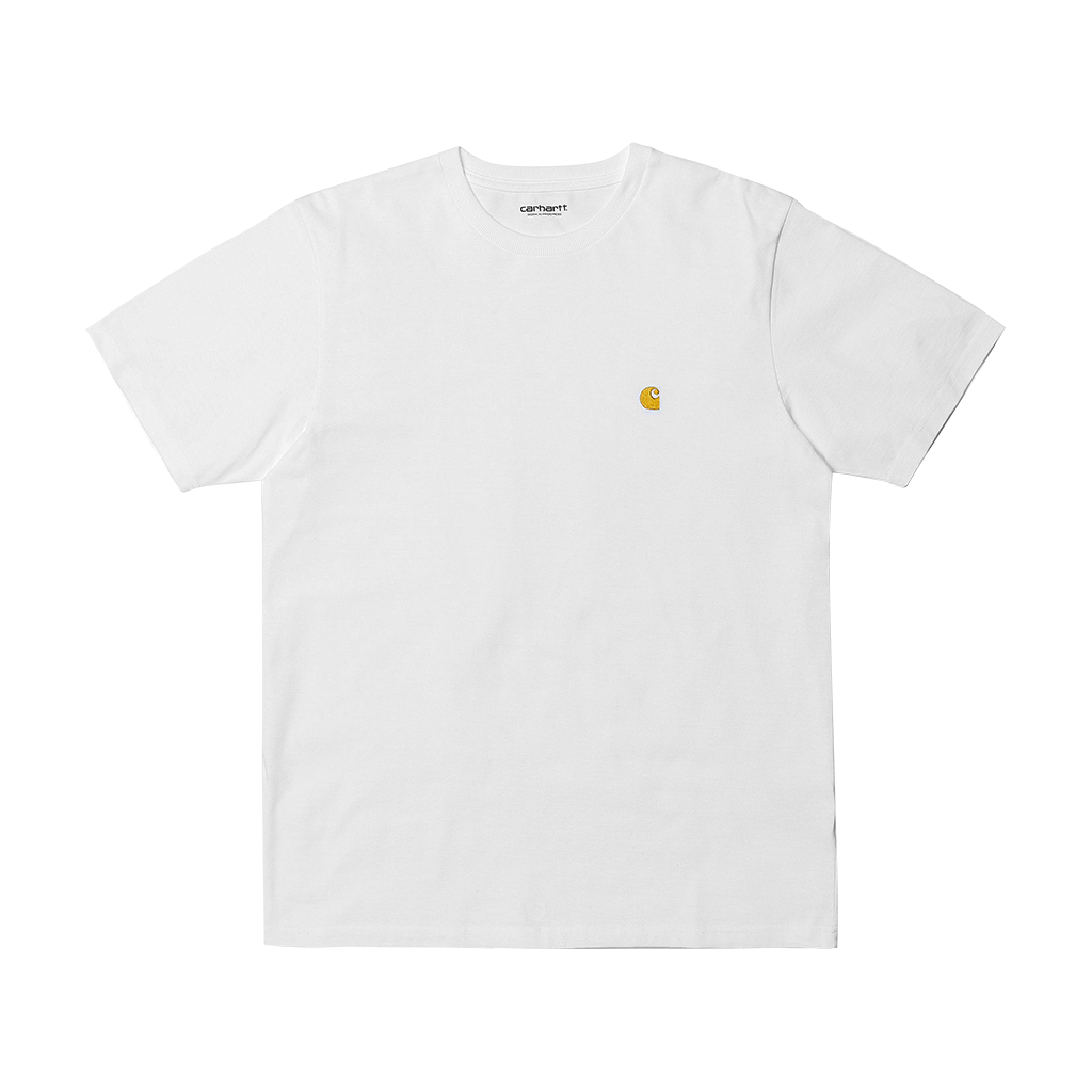 Carhartt S/S Chase T-Shirt (white/gold)