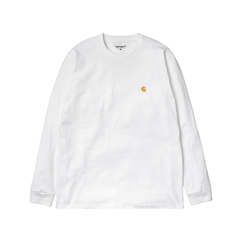 Carhartt L/S Chase T-Shirt (white/gold)