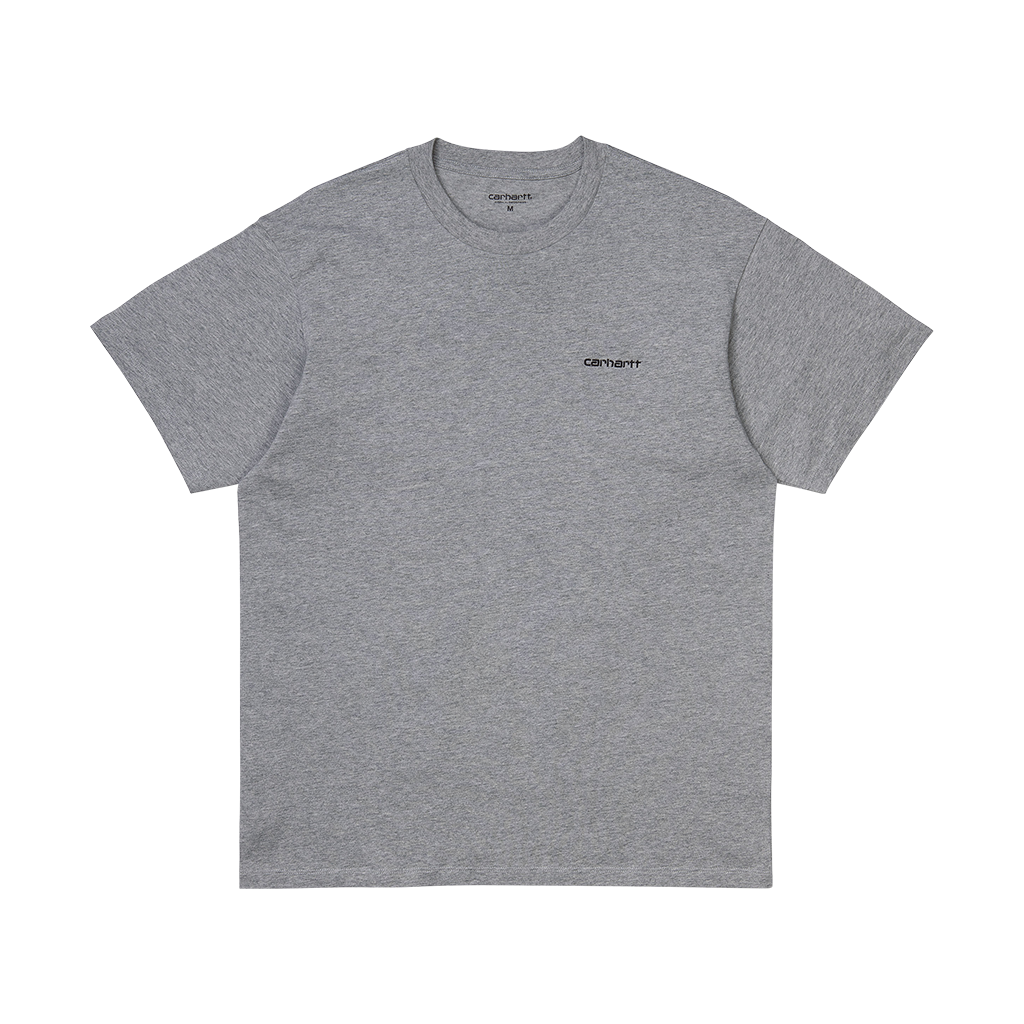 Carhartt S/S Script Embroidery T-Shirt (grey heather/black)