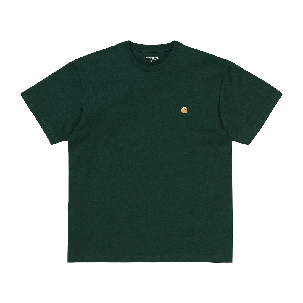 Carhartt WIP S/S Chase T-Shirt (bottle green/gold)