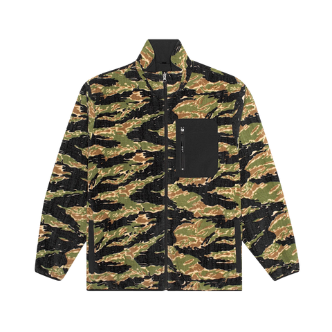 Huf Milton Rev Polar Fleece Jacket (camo)