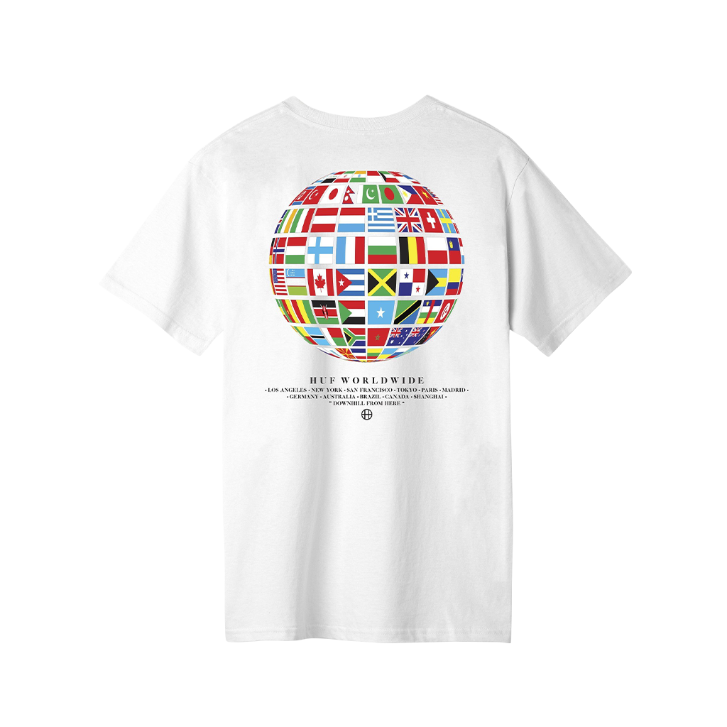 Huf Global Wave T-Shirt (white)