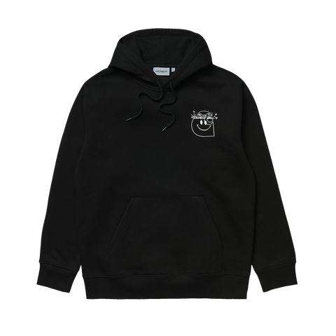 Carhartt WIP Hooded Smiley Sweat (black/white)
