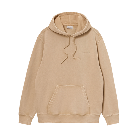 Carhartt WIP Hooded Mosby Script Sweat (dusty hamilton brown)