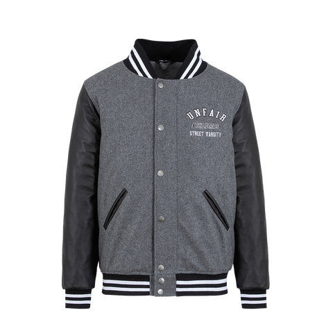 Unfair Athletics College Jacket (grey/black)