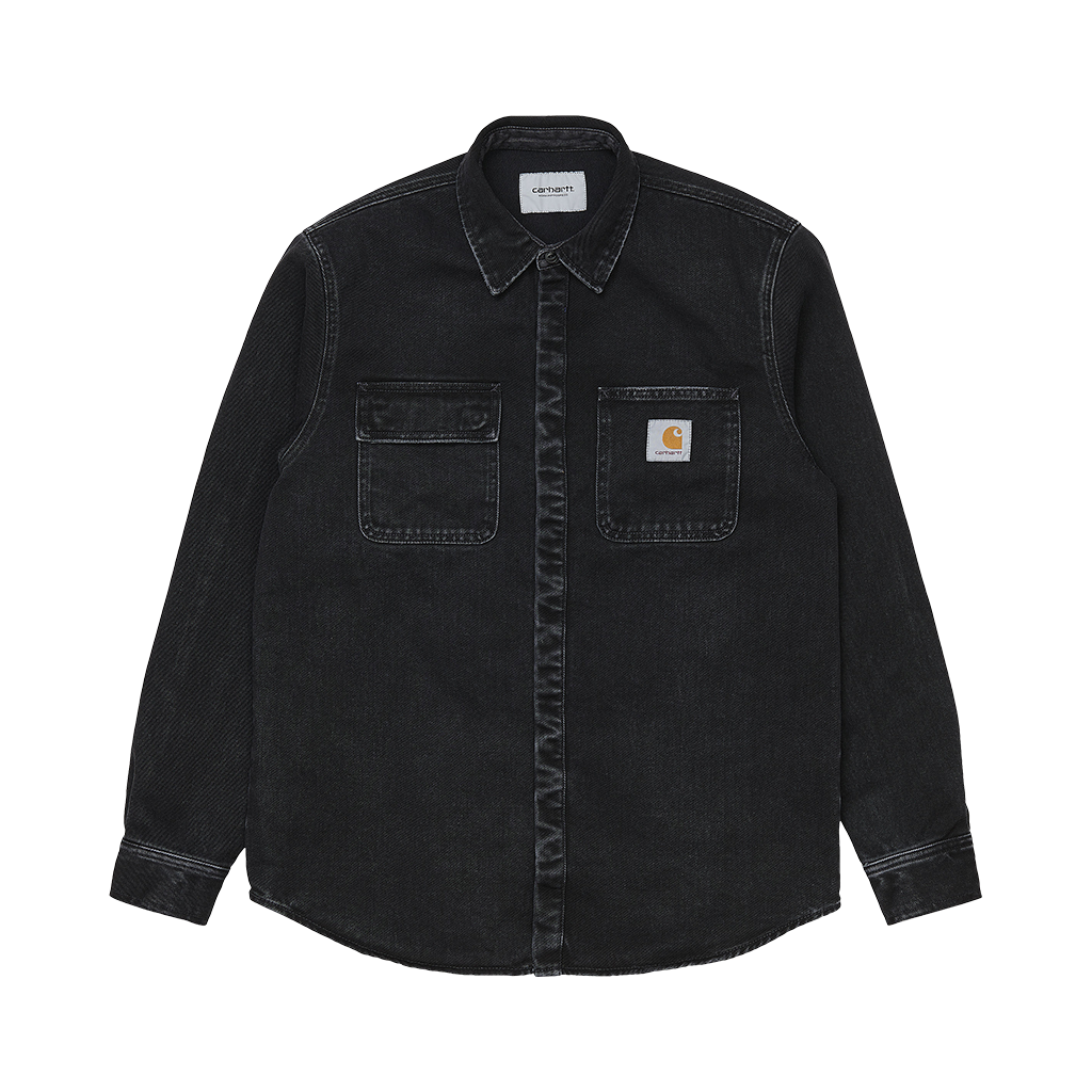 Carhartt Salinac Shirt Jacket (black stone washed)