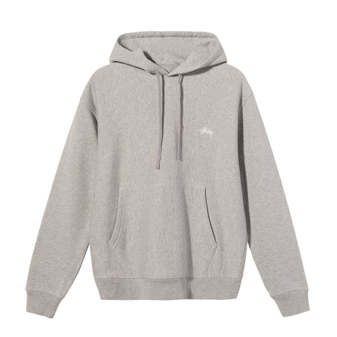 Stüssy Stock Logo Hood (grey heather)