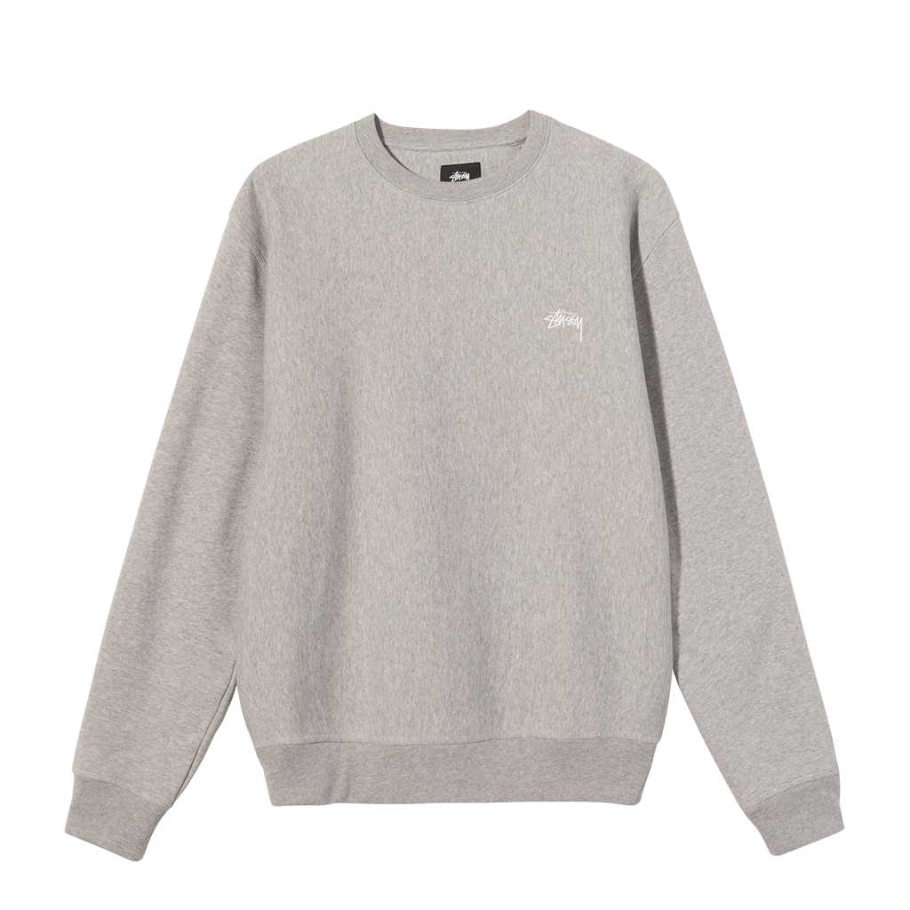 Stüssy Stock Logo Crew (grey heather)