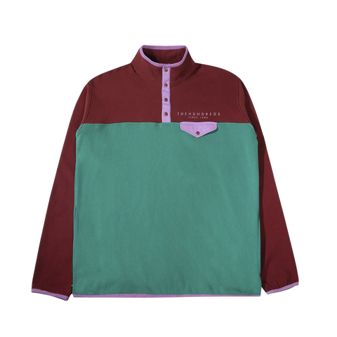 The Hundreds Ventura Pullover (burgundy/teal)