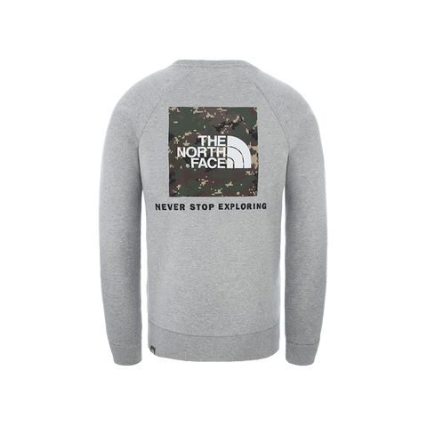 The North Face Raglan Red Box Crew (light grey heather/digi camo)