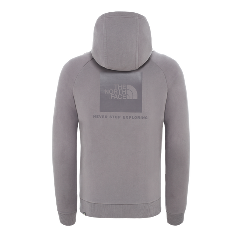 The North Face Raglan Red Box Hoodie (mineral grey)