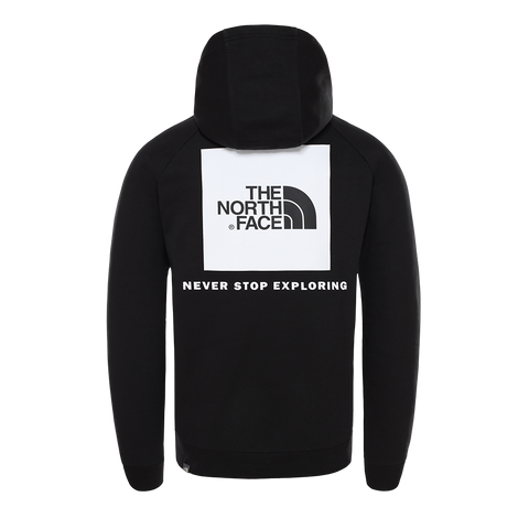 The North Face Raglan Red Box Hoodie (black/white)