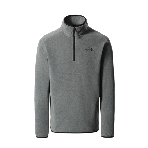 The North Face 100 Glacier 1/4 Zip Fleecepullover (medium grey)
