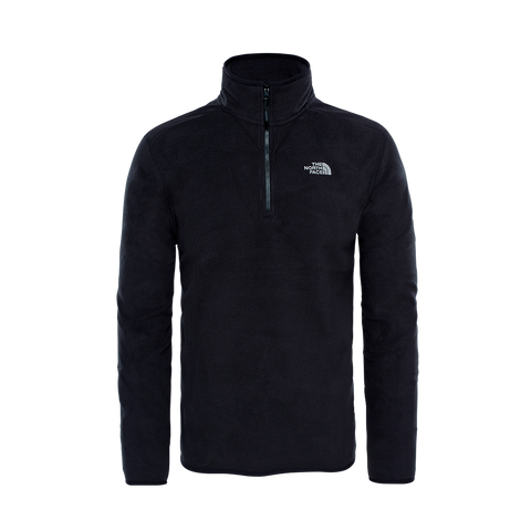 The North Face 100 Glacier 1/4 Zip Fleecepullover (black)
