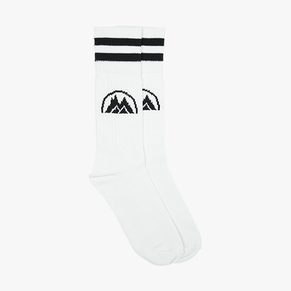 BMS Classic Logo Socks 3 Pair Pack (weiß/schwarz)-Blue Mountain Store