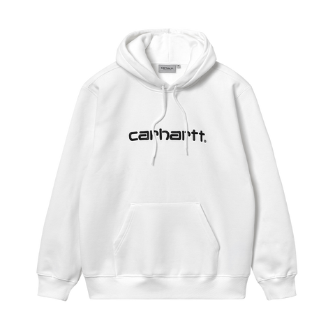 Carhartt WIP Hooded Carhartt Sweat (white/black)
