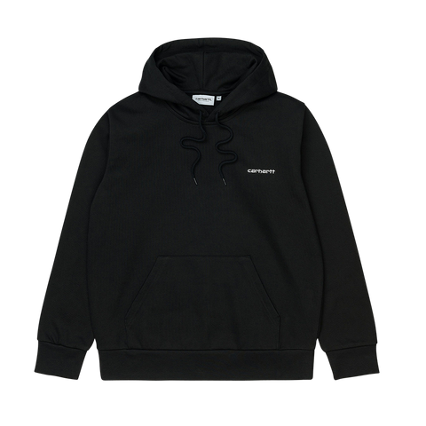 Carhartt WIP Hooded Script Embroidery Sweat (Black/White)