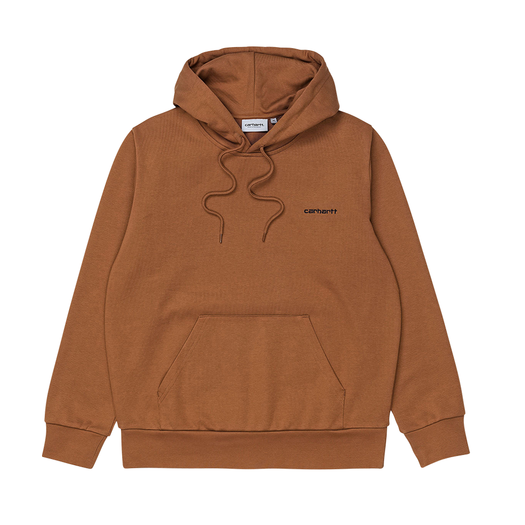 Carhartt WIP Hooded Script Embroidery Sweat (Rum/Black)
