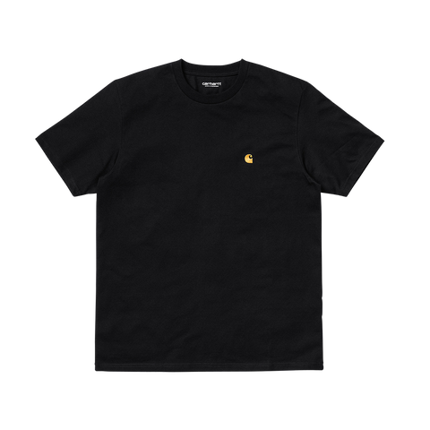 Carhartt S/S Chase T-Shirt (black/gold)