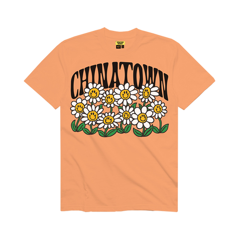 Chinatown Market Smiley Flower Power Tee (peach)