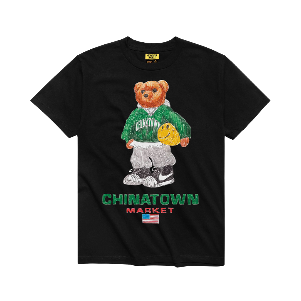 Chinatown Market Smiley Sketch Basketball Bear Tee (black)