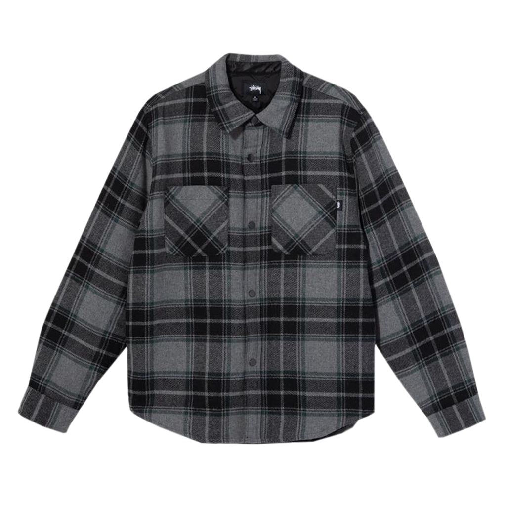 Stüssy Max Plaid Quilted Shirt (grey)