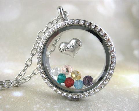 NaNa Birthstone Locket Necklace