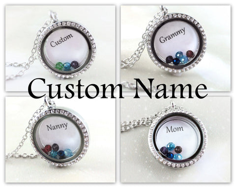 Custom Name Grandma Locket Necklace