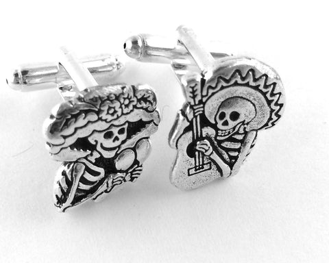 Mismatch Sugar Skull Cufflinks