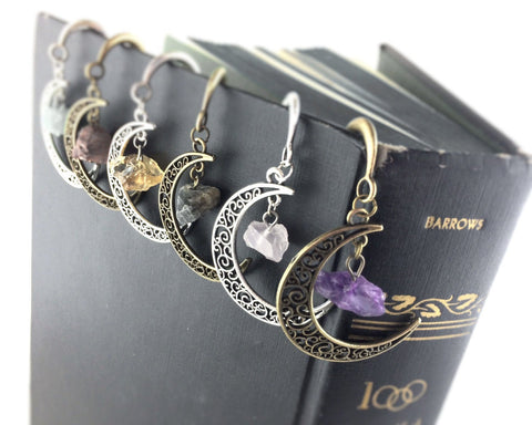Gemstone Moon Bookmark