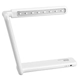 "On My Desk 990010 10.5"" Rechargeable Tri-Fold LED Desk or Wall-Mount Lamp Rotating Head and Touch Sensor Dimmable Control White"